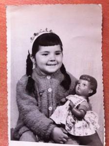 Angela Barbi as a child